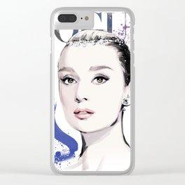 Vogue Fashion Illustration #17 Clear iPhone Case