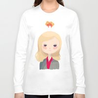 leslie knope Long Sleeve T-shirts featuring Vote Knope by Nan Lawson