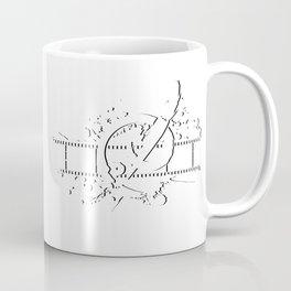 Badass Art Studio Logo White Coffee Mug