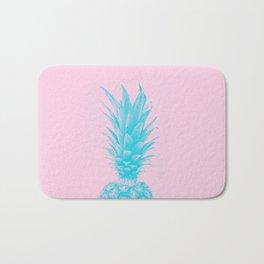 Blue Pineapple Xerox + Pink Bath Mat