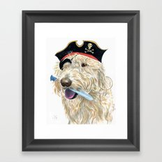 Labradoodle Pirate Framed Art Print