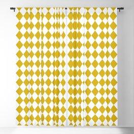 Antique Moss Gold Modern Diamond Pattern Blackout Curtain