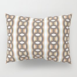 Retro-Delight - Continuous Chains (Oval) - Frost Pillow Sham