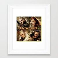 the hobbit Framed Art Prints featuring Hobbit by custompro