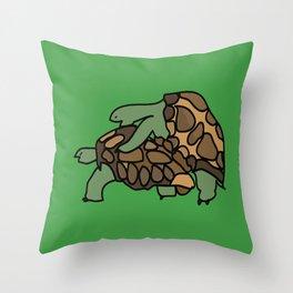 Turtle Galapagos mate love mating  Throw Pillow