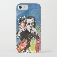 nick cave iPhone & iPod Cases featuring Nick Cave Red Right Hand by Caitlyn Shea