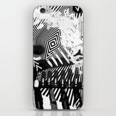 GRAY AND BLACK iPhone & iPod Skin