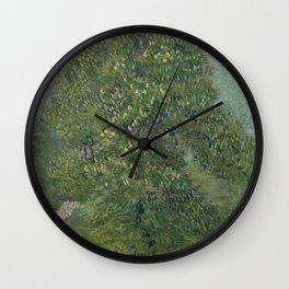 Horse Chestnut Tree in Blossom Wall Clock