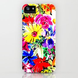 Circle of flowers iPhone Case