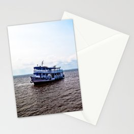 Amazon river boat Stationery Cards