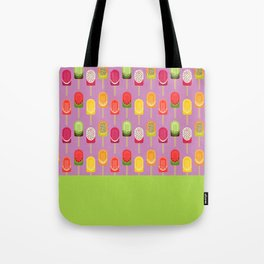 Fruit popsicles - pink version Tote Bag