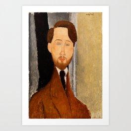 "Amedeo Modigliani ""Portrait of Léopold Zborowski"" Art Print"