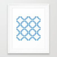 ikat Framed Art Prints featuring ikat by Kozza