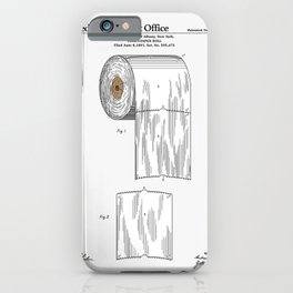 Toilet Paper Roll Patent iPhone Case