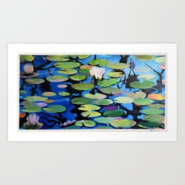 Water Lilly Abstract Art Print