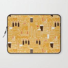 Beer Pattern   Oktoberfest Hops Malt Brewery Laptop Sleeve