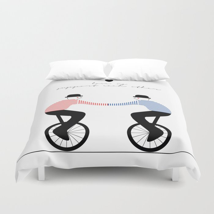 Monobycicle Duvet Cover