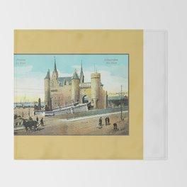 Antwerpen Antwerp Steen medieval castle Throw Blanket