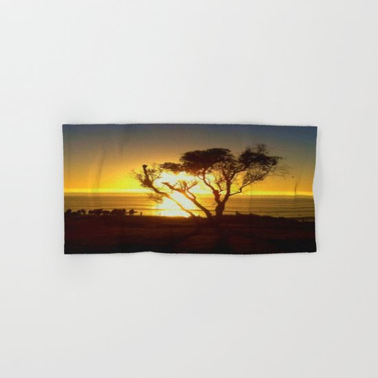 Fire and Water - a California sunset Hand & Bath Towel