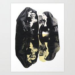 Sister act Art Print