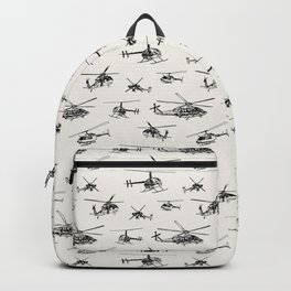 Helicopters on Linen White Backpack