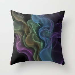 Aurora Floating Lace- String Theory #4 Throw Pillow