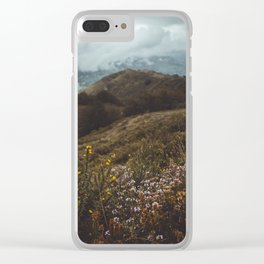 Wildflowers in autumn Clear iPhone Case