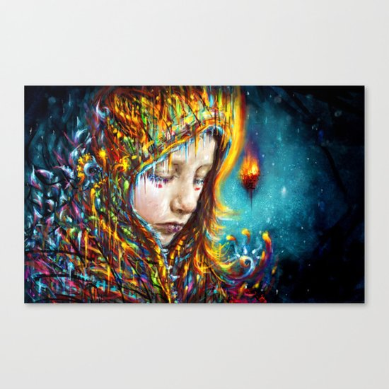 when it's cold outside Canvas Print