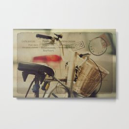 I just want to ride my bike today Metal Print