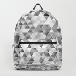 Grey triangle pattern Backpack