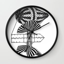 montgolfiere imaginaire Wall Clock