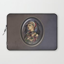 Marooned - Gothic Angel Portrait Laptop Sleeve