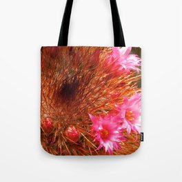 Red Cactus in Bloom Tote Bag