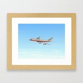Commercial jet liner Framed Art Print