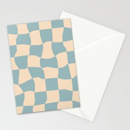 Melted Check  Stationery Cards