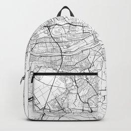 Frankfurt Map White Backpack