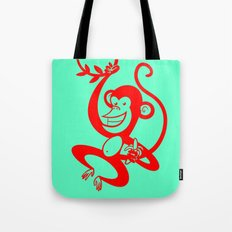 Red Monkey Tote Bag
