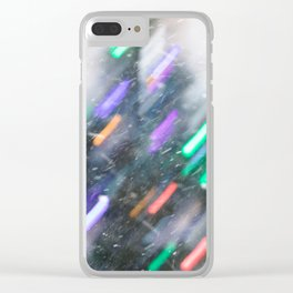 Snowy Christmas Tree Clear iPhone Case