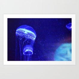 Aquatically Electric Art Print