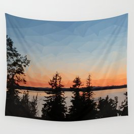 Sunset over Bellingham Bay Wall Tapestry