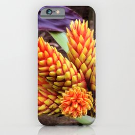 Hawaiian Tropical Elegant Jungle Flower iPhone Case