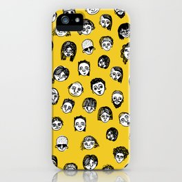 So Many People (Yellow) Pattern Print iPhone Case