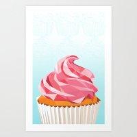 cupcake Art Prints featuring Cupcake by kalieda