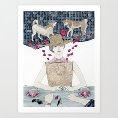 Lost and bewildered Art Print