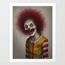 Ronald McDonald Art Print