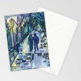 Lovers in the Park Stationery Cards