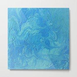 Blue Coaster 2 Metal Print