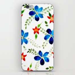 Breezy florals iPhone Skin