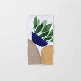Plant and rocks Hand & Bath Towel