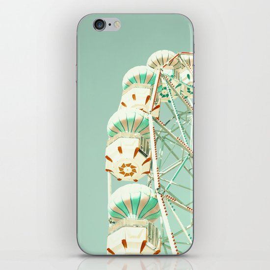 Soft Aqua Ferris Wheel  iPhone & iPod Skin